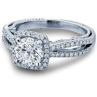 Verragio Split Shank Diamond Engagement Ring