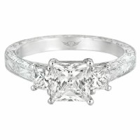 FlyerFit hand engraved Engagement Ring