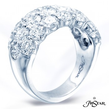 JB Star/Jewels By Star Multi-Row Diamond Band