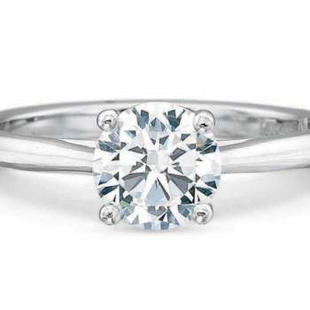 Precision Set Solitaire Ring 200318W