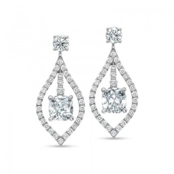 Precision Set Diamond Fashion Morrocan Drop Earrings