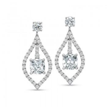 Precision Set Diamond Fashion Morrocan Drop Earrings