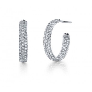 Coast Diamond Diamond Hoop Earrings - EC5123