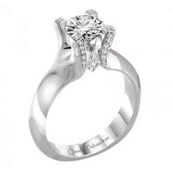 Claude Thibaudeau La Royale Modern Platinum Engagement Ring PLT-1929-MP