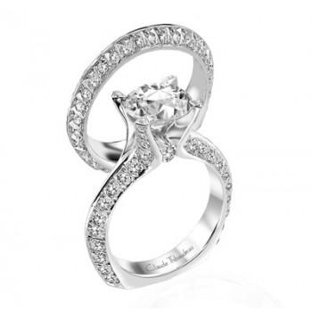 Claude Thibaudeau La Royale Platinum Sidestone Ring MODPLT-1682
