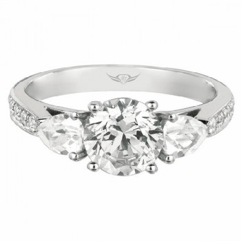 Martin Flyer FlyerFit Bead Set Engagement Ring