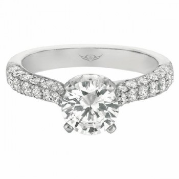 Martin Flyer FlyerFit Bombe Pave Engagement Ring 5205Q-1-C-7.0RD