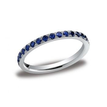Diamonds White Gold 2mm Sapphire Band