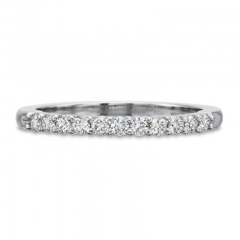 Precision Set Half Round Shared Prong Band with 11 Round Diamonds .25CT