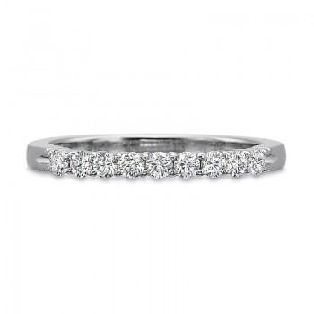 Precision Set Half Round Diamond Shared Prong Band .33CT