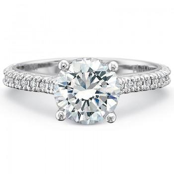 Precision Set Petite FlushFit™ Prong Set Diamond Band Engagement Ring