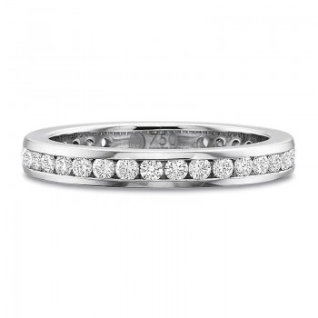 Precision Set Full Round Diamond Channel Set Band .75CT