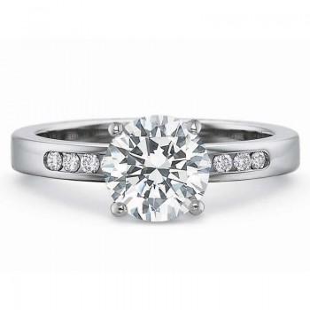 Precision Set Classic Diamond Channel Set Engagement Ring