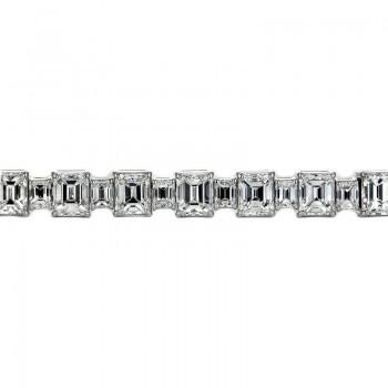 Sasha Primak Alternating Big & Small Emerald-Cut Diamond Bracelet