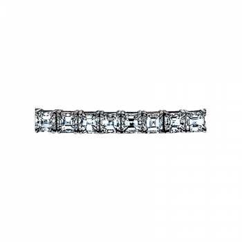 Sasha Primak Four-Prong Asscher-Cut Diamond Bracelet