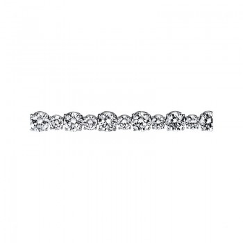 Sasha Primak Four-Prong Alternating Big & Small Round Diamond Bracelet