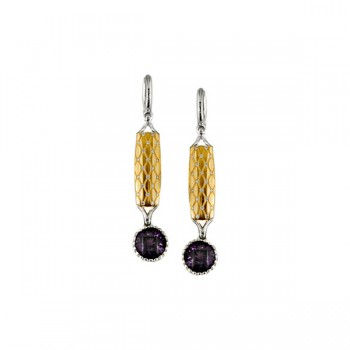 Sasha Primak Argyle Collection Diamond and Amethyst Drop Earrings
