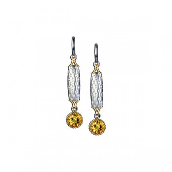 Sasha Primak Argyle Collection Diamond and Yellow Citrine Drop Earrings