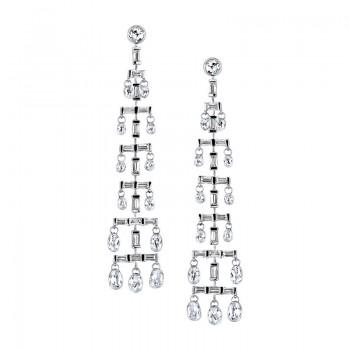 Sasha Primak Multi-Tier Diamond Chandelier Earrings