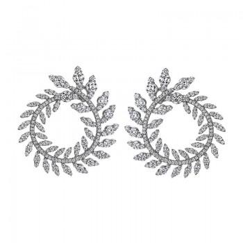 Sasha Primak Diamond Wreath Earrings