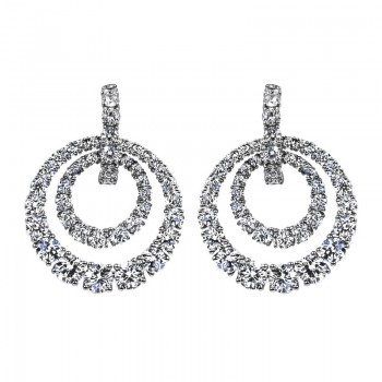 Sasha Primak Double-Circle Diamond Drop Earrings