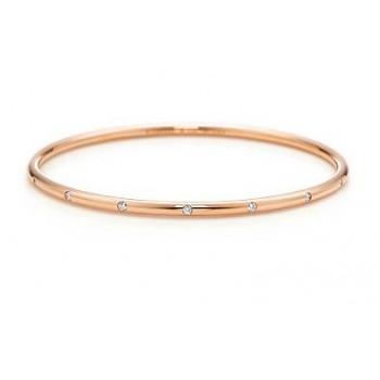 0.50 CT Diamond Bangle Bracelet Rose Gold