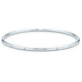 0.50 CT Diamond Bangle Bracelet White Gold