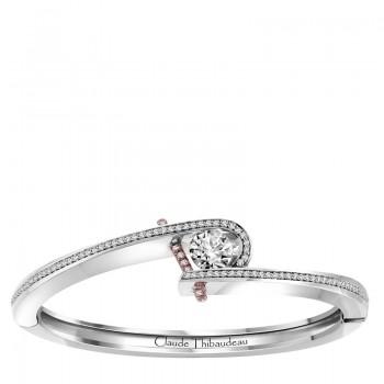 Claude Thibaudeau Platinum & 18Kt Rose Gold Bracelet