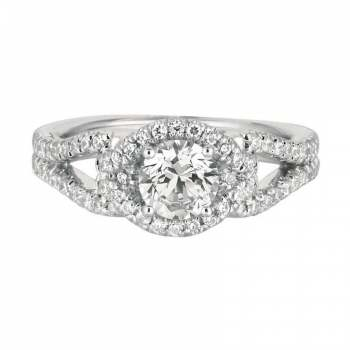 Mervis Collection Cutdown Micropave Engagement Ring 0.38cts