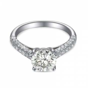 Mervis Collection Pave Micropave Engagement Ring 0.66cts