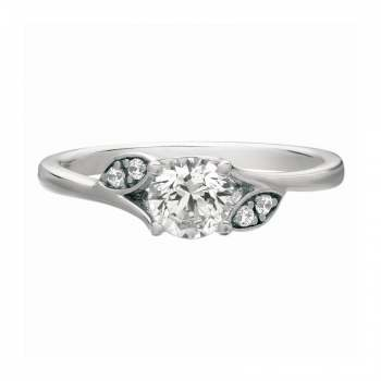 Mervis Collection Beadset Micropave Engagement Ring 0.05cts