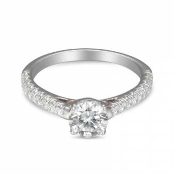 Mervis Collection Cutdown Micropave Engagement Ring 0.29cts