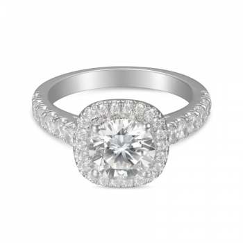 Mervis Collection Cutdown Micropave Engagement Ring 0.71cts