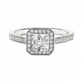 Mervis Collection Beadset Micropave Engagement Ring 0.32cts MERMH3XSAC-D-5.5PC