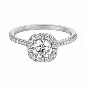 Mervis Collection Cutdown Micropave Engagement Ring 0.28cts MERMH7XSCU-D-6.0RD