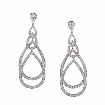 Diamond Peacock Earrings
