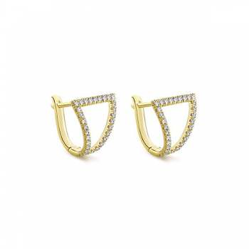 14k Yellow Gold Huggies Huggie Earrings