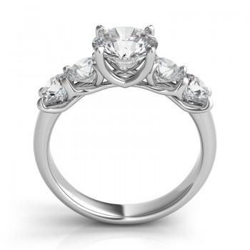 "Five-Stone ""Trellis"" Diamond Engagement Ring"