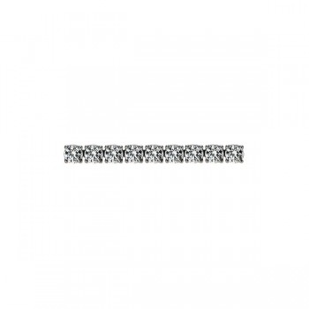 Four-Prong Round Diamond Link Bracelet