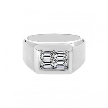 Sasha Primak Mutual Prong-Set Emerald-Cut Diamond Men's Ring