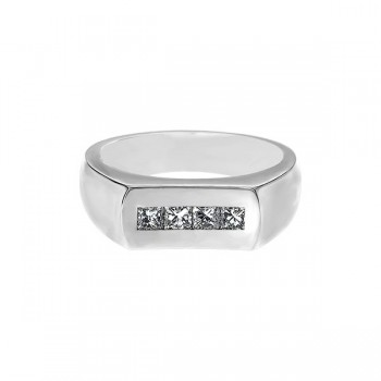 Sasha Primak Concave Channel-Set Princess-Cut Diamond Men's Ring