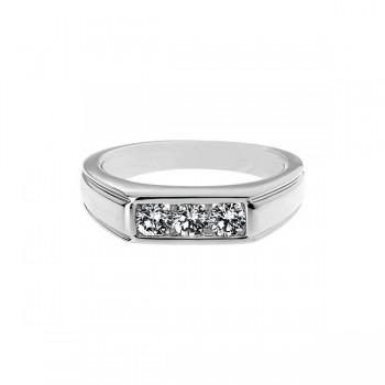 Sasha Primak Channel-Set Round Diamond Men's Ring
