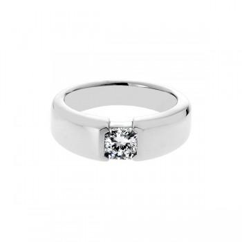 Sasha Primak Bezel-Set Square Radiant-Cut Diamond Men's Solitaire Ring