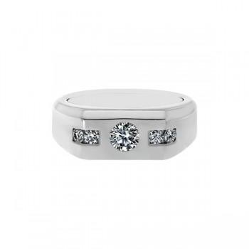 Sasha Primak Diamond-Accented Bezel-Set Round Diamond Men's Ring