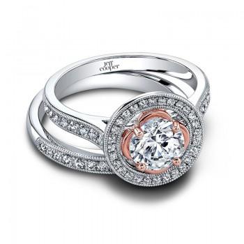 Jeff Cooper Henna Rose Engagement Ring