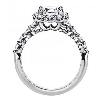 """Sasha Primak Nine-Stone """"Royal Prong"""" Halo Diamond Engagement Ring"""