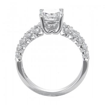 "Sasha Primak Graduated Three-Row ""Royal Prong"" Round Diamond Engagement Ring"