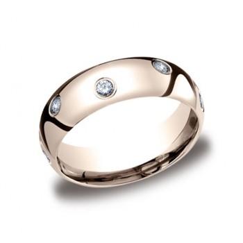 Diamonds Rose Gold 6mm Diamond Band