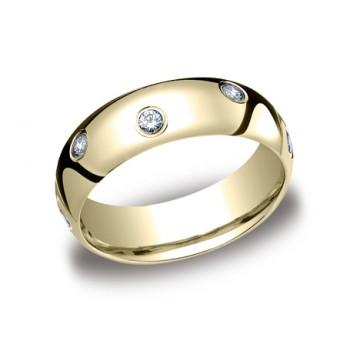 Diamonds Yellow Gold 6mm Diamond Band