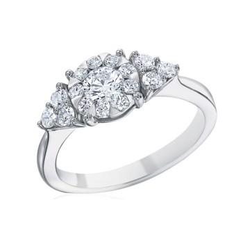 Memoire Classic Trillion Diamond Engagement Ring MBQ01ER-0050TW